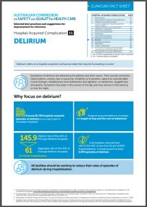 Factsheet for HAC Delirium