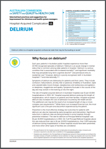 Fact sheet for HAC Delirium